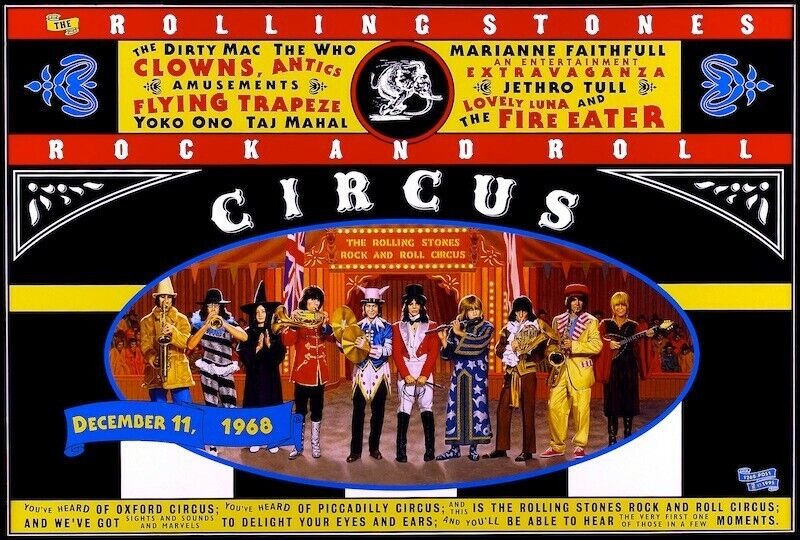 Rolling Stones Rock and Roll Circus POSTER Rare Large