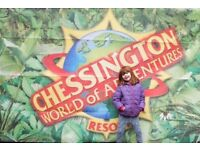 CHESSINGTON WORLD OF ADVENTURES TWO TICKETS VALID FOR FRIDAY 21th JUNE 2018