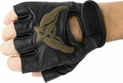 3D Adler Biker Handschuhe Leder Lederhandschuhe fingerlos ohne - Adler Handschuhe