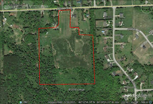 Approximately 25 acres on Third Line west with small rental home