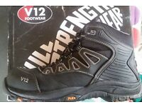 V12 work boots size 8