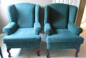 Wingback Armchairs - Set of 2