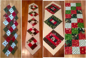 Variety of Christmas Table Runners