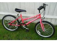 Girls 6gear 20inch wheels suit 5ish to 6,7ish two new tyres good working order