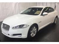 2013 WHITE JAGUAR XF 2.2 D 200 LUXURY DIESEL 4DR SALOON CAR FINANCE FR £41 PW