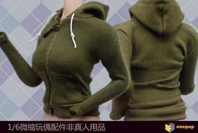 """1/6th Green Leisure Sport Coat Clothes Model For 12"""" Female Action Figure Doll"""