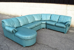 100% Leather Sectional Sofa