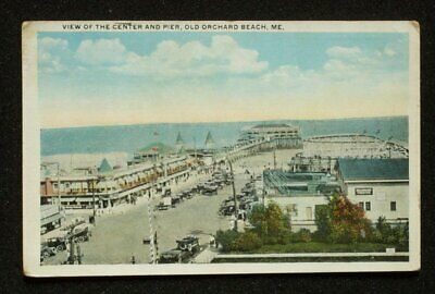 1921 Town Center Pier Amusements Old Orchard Beach ME York Co Postcard (Orchards Town Center)