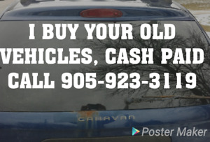 I BUY YOUR OLD VEHICLES