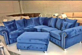 Blue Velvet Sofa For Sale Sofas Couches Armchairs Gumtree