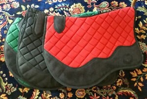 $30 each, 3 saddle pads, never used! One of each colour!