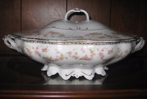 Antique Covered Serving Dish
