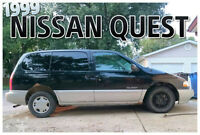 1999 Nissan Quest Minivan, safetied