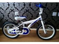 Brand new child's bike 16 inch white & blue rrp £89.99