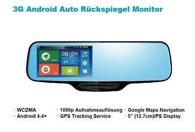3G / GSM Auto Rückspiegel Monitor DashCam Navigation GPS Android Bluetooth WiFi - Dash 3g