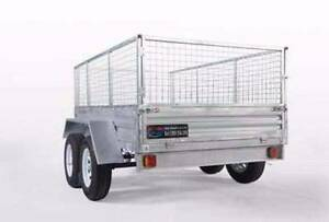 **TRADESMAN SPECIAL**Galvanized Tandem 8x5 Braked Box Trailer Wetherill Park Fairfield Area Preview