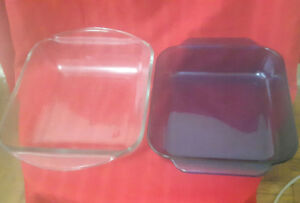 2 FOR 1 Glass Baking Dishes 8 X 8