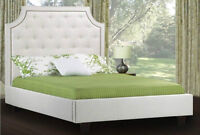 UPHOLSTERED FABRIC BED - DOUBLE QUEEN KING SIZE - SALE