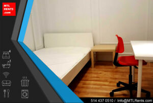 Plateau/All included/4 BR/Furnished/McGill/Renovated/Students