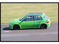 Peugeot 106 gti track car race rally
