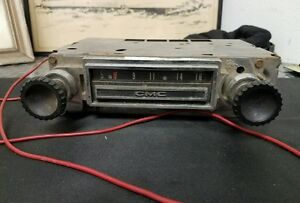 Original radio from 1963 to 66 GMC truck.