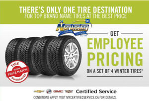 Get Employee Pricing on a set of 4 Winter tires