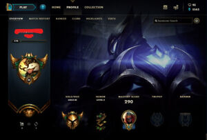 League of Legends account, Gold lll, 98 skins.