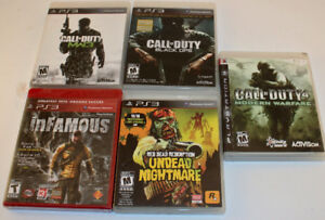 PS3 - 5 games inc. one factory sealed (Infamous)