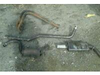Ford Escort mk4 xr3i sportex exhaust system and 4 branch manifold