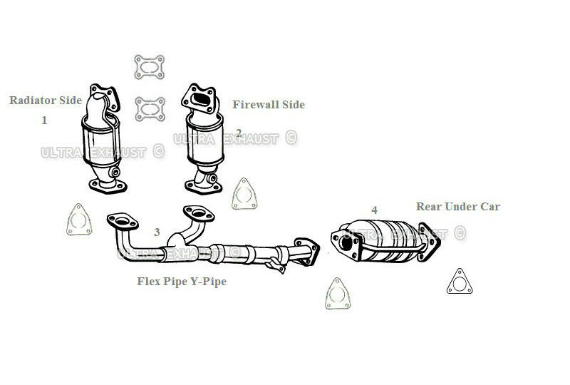 honda odyssey 3 5l exhaust catalytic converters  u0026 flex