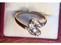 DIAMOND Ladies Ring.size T
