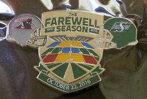 Saskatchewan Roughrider Farewell Pins