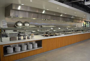 commercial Kitchen Hood Exhaust Fire Suppression and Make up Air