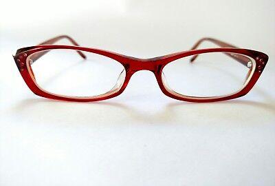 X&O New York OP-36 ruby red eyeglass frames 50()17 141