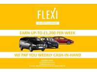 PCO drivers wanted / minicab driver wanted / 100% CASH -IN-HAND earn up-to £1,200 p/w