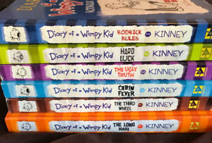 6 Dairy of a Wimpy Kid Books