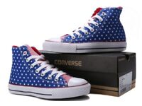 Converse all stars chuck taylor hi tops american flag stars and stripes unisex UK5.5 NEW/BOXED
