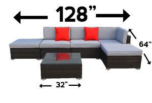 6 piece outdoor sectional conversation set lawn garden brand new