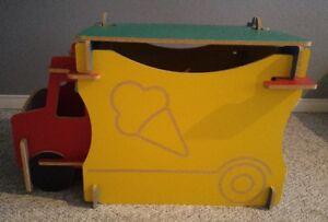 Ice Cream Truck Toybox / Night Table / Bench