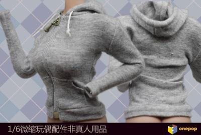 """1/6th Grey Leisure Sport Coat Clothes Model For 12"""" Female Action Figure Doll"""