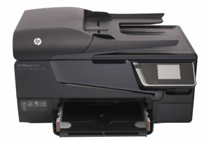 HP Officejet 6600 with ink and paper