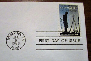TWO 1965 Appomattox Civil War Centennial 5 Cent First Day Covers Kitchener / Waterloo Kitchener Area image 5