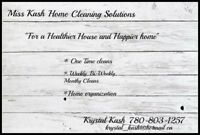 Miss Kash Home Cleaning Solutions