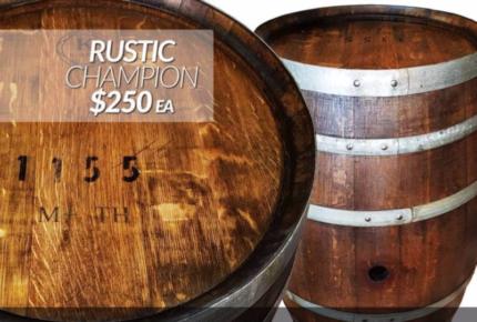 Danish Oil-Treated Rustic Champion Wine Barrel.