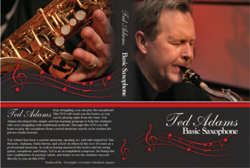 Ted Adams Basic Saxophone DVD and CD lessons