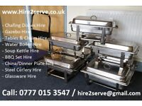 Party Hire Chafing Dishes, Chaffing Dish, Buffet Food Serving Dishes, Chafer+Gel Fuel catering Party