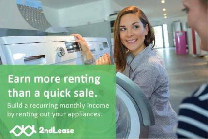 Build monthly cashflow by leasing out washers with 2ndLease
