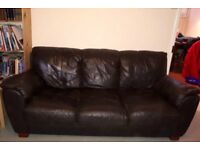 Free 3 seater leather sofa - good condition