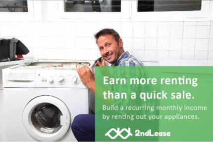 Build monthly income by leasing out washers with 2ndLease in Melb