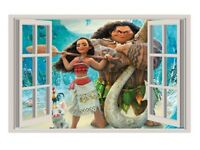 Children's Moana look outside wall art